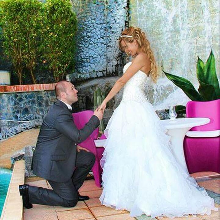 sara e angelo sposi matrimonio sposa dress abito le fem spsose vesevus love story