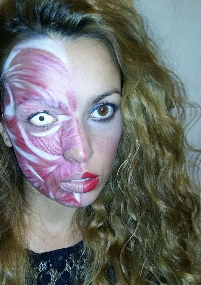 2015 10 31 halloween geisha japan horror monster muscle