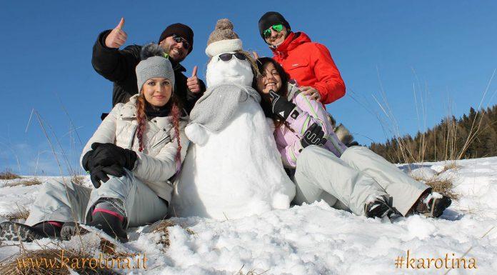 2016 01 24 ok Grun weekend aosta saint vincent friend pupazzo di neve
