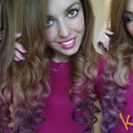 2017 02 08 karotina capelli ricci come fare i boccoli mossi capelli hair metodo karotina sara multicolor hair rosa viola